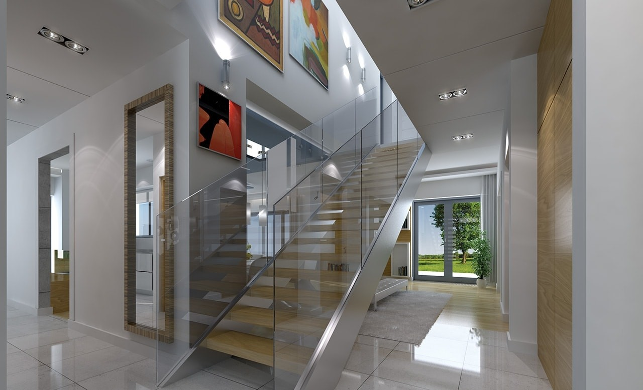 Wnętrze domu Gala odbicie lustrzane