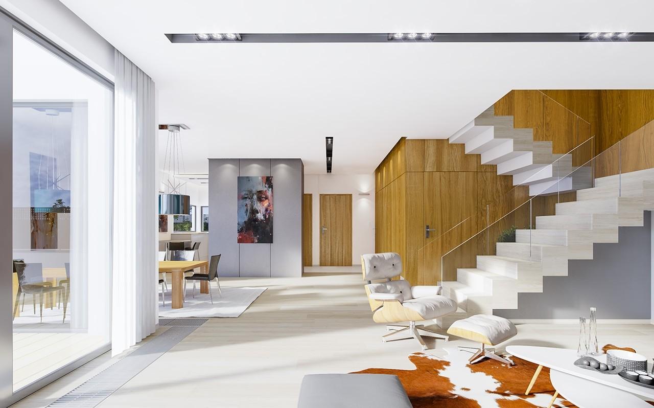 Wnętrze domu Modena odbicie lustrzane