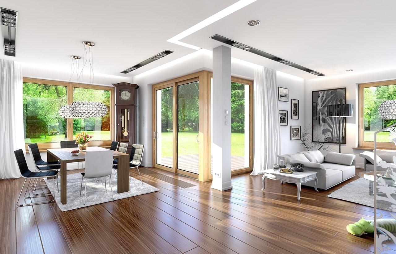 Wnętrze domu Opal odbicie lustrzane