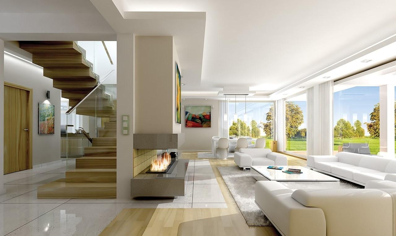 Wnętrze domu Otwarty wariant B - wizualizacja wnętrza