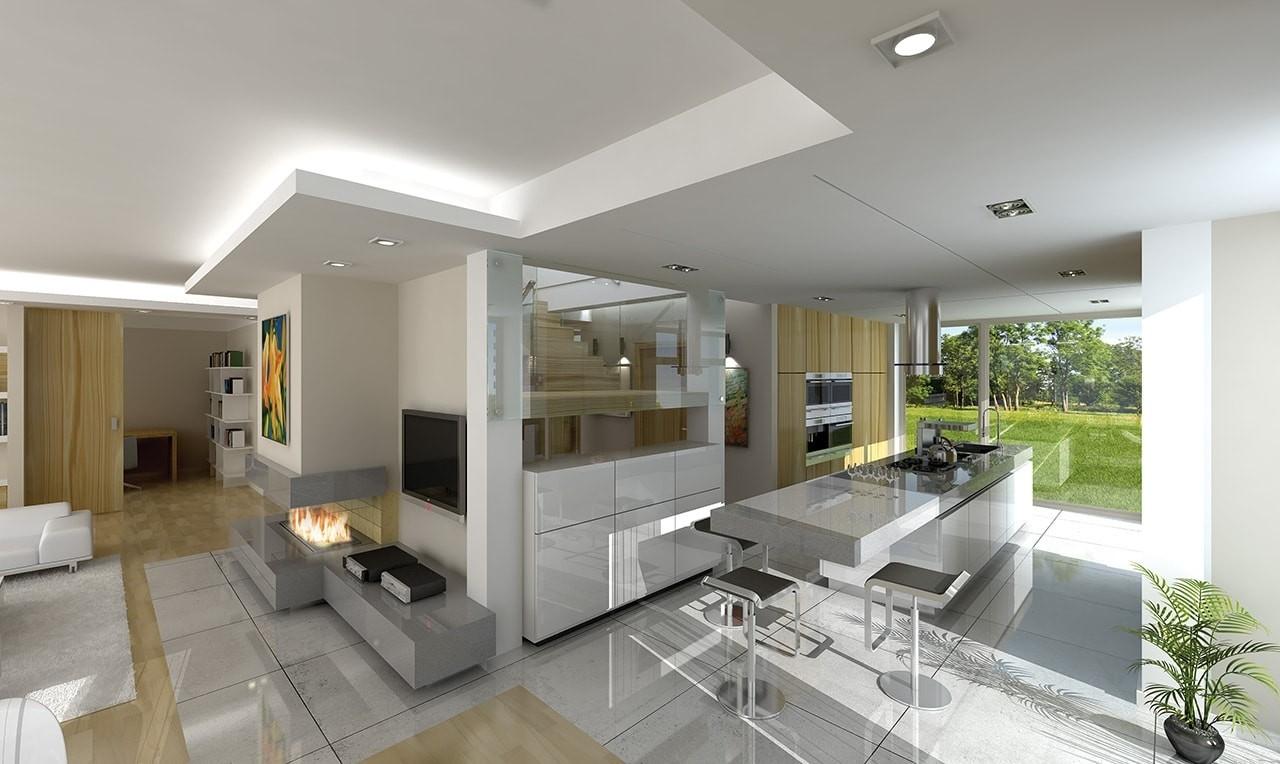 Wnętrze domu Otwarty wariant B - wizualizacja wnętrzaty wariant B - wizualizacja wnętrza