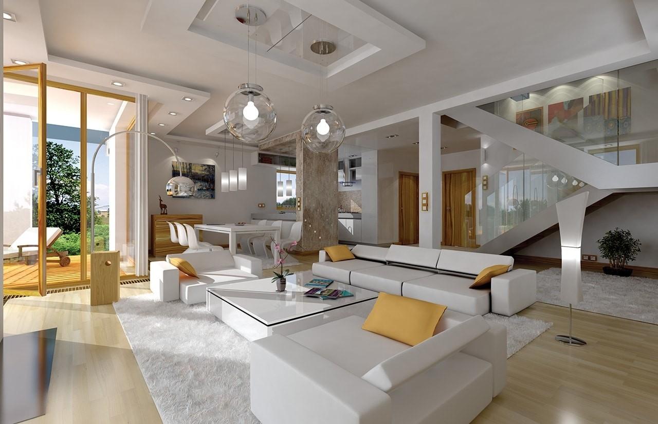 Wnętrze domu Prosty odbicie lustrzane