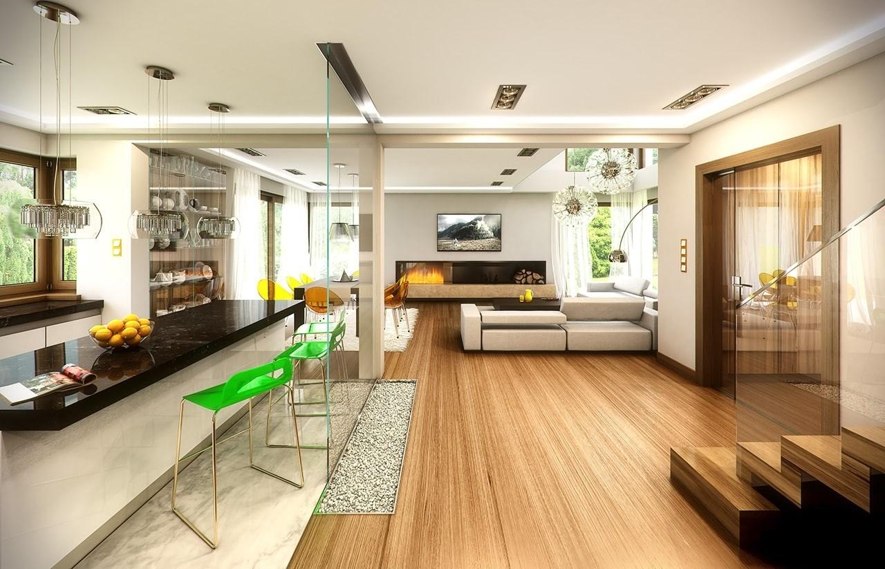 Wizualizacja wnętrza Projektu domu Riwiera 3 wariant E