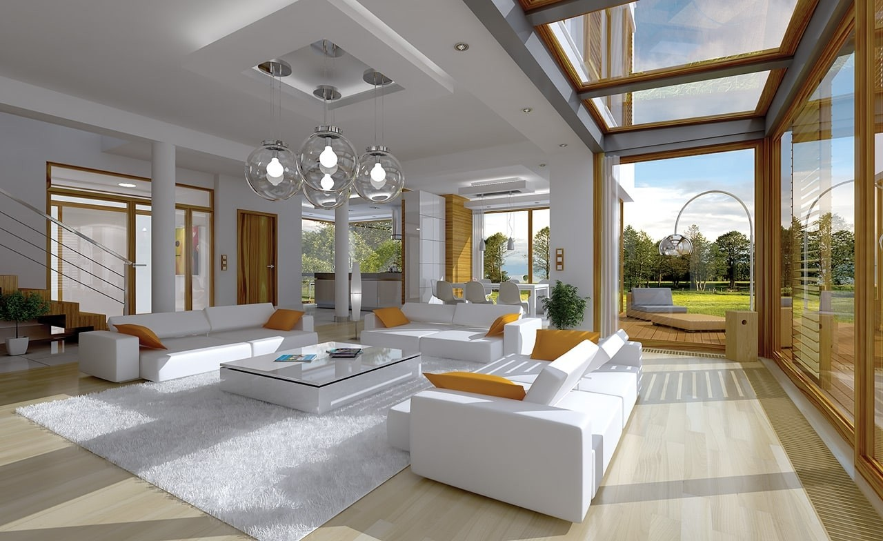Wnętrze domu Vertigo odbicie lustrzane