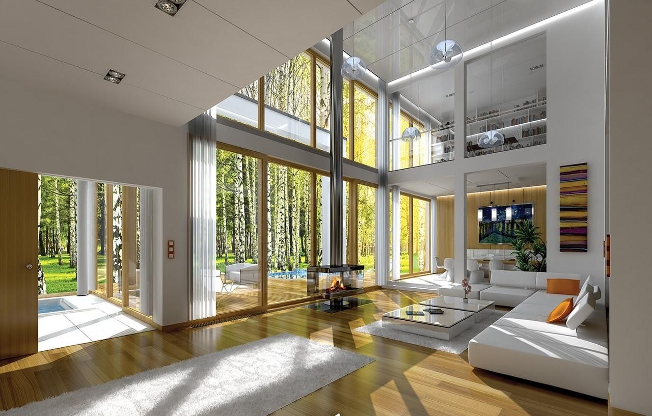 Wnętrze domu Villa Nova odbicie lustrzane