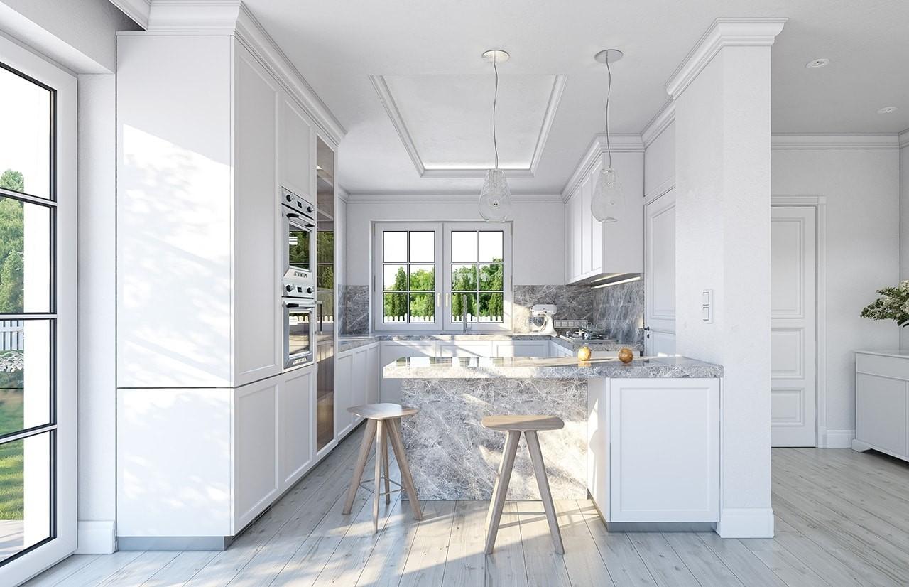 Wizualizacja wnętrza - Projekt domu Willa diamentowa wariant D