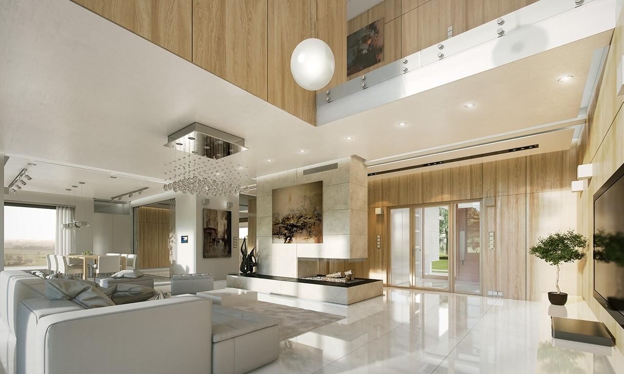 Wnętrze domu Willa Floryda odbicie lustrzane
