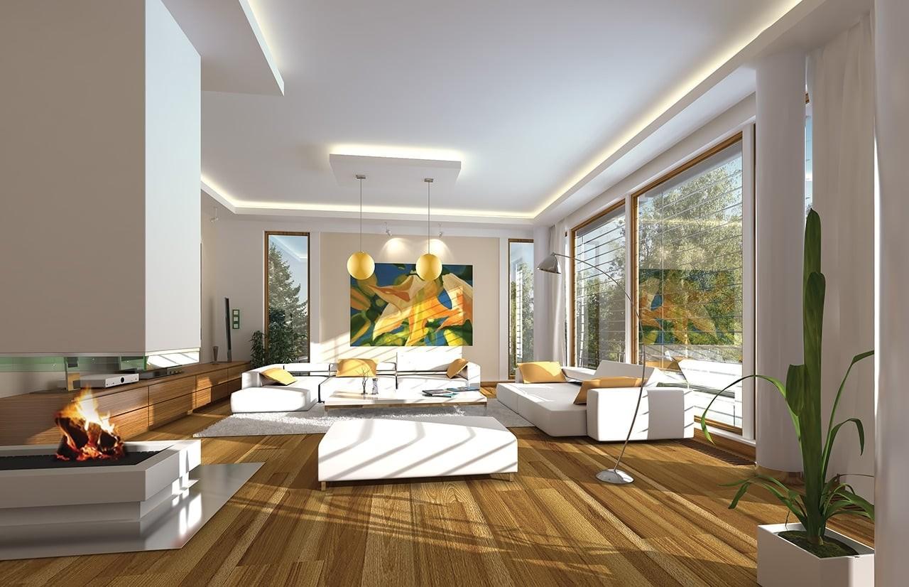 Wnętrze domu Willa Słoneczna odbicie lustrzane