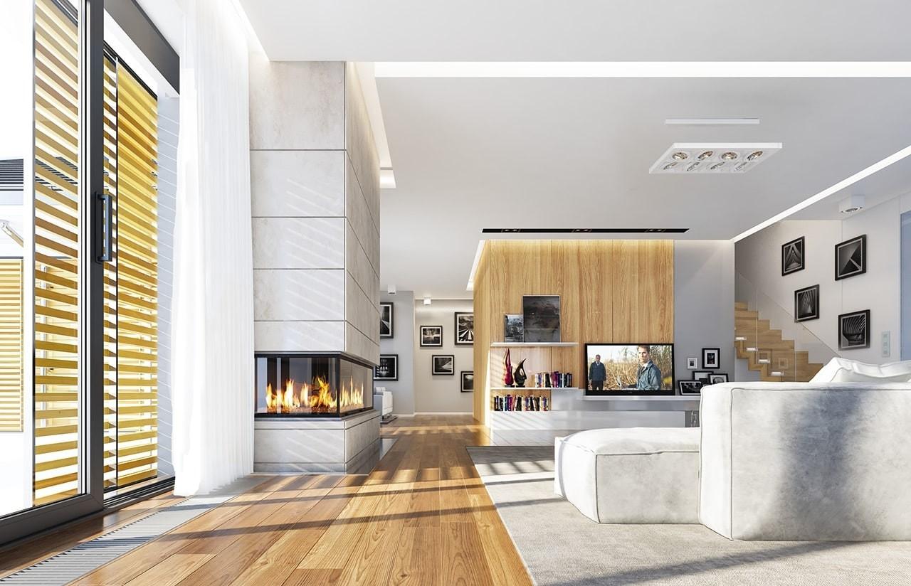 Wizualizacja wnętrza domu Wyjątkowy wariant B odbicie lustrzane