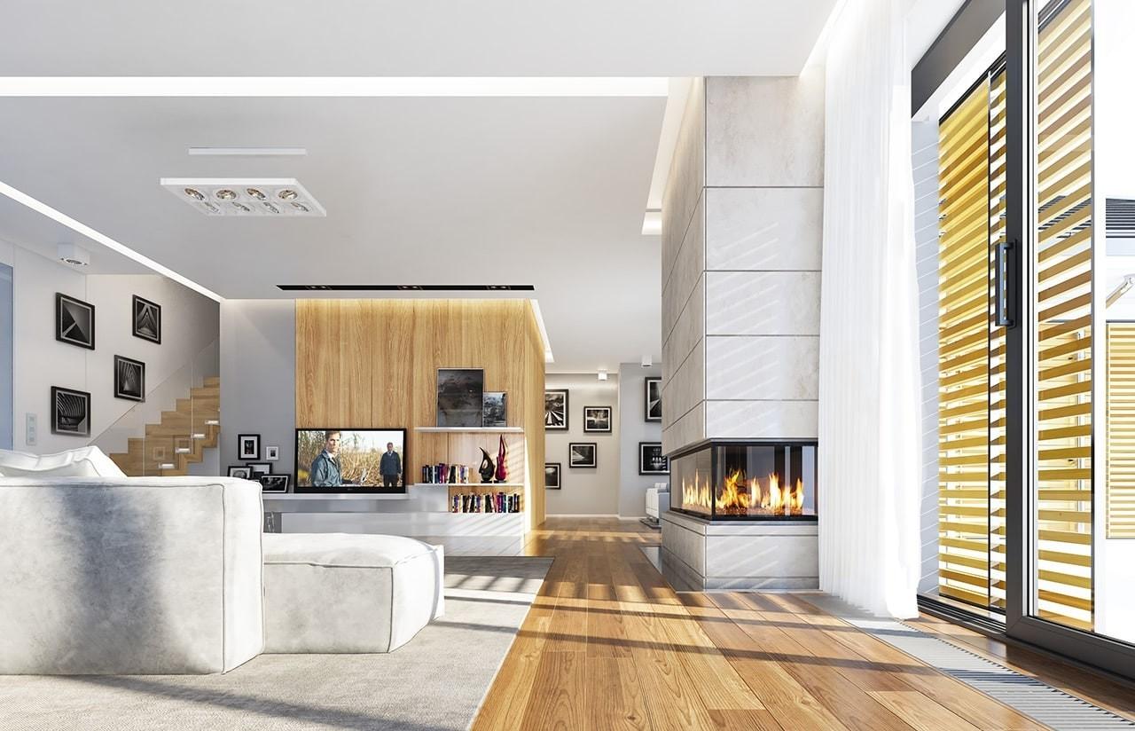 Wizualizacja wnętrza domu Wyjątkowy wariant B