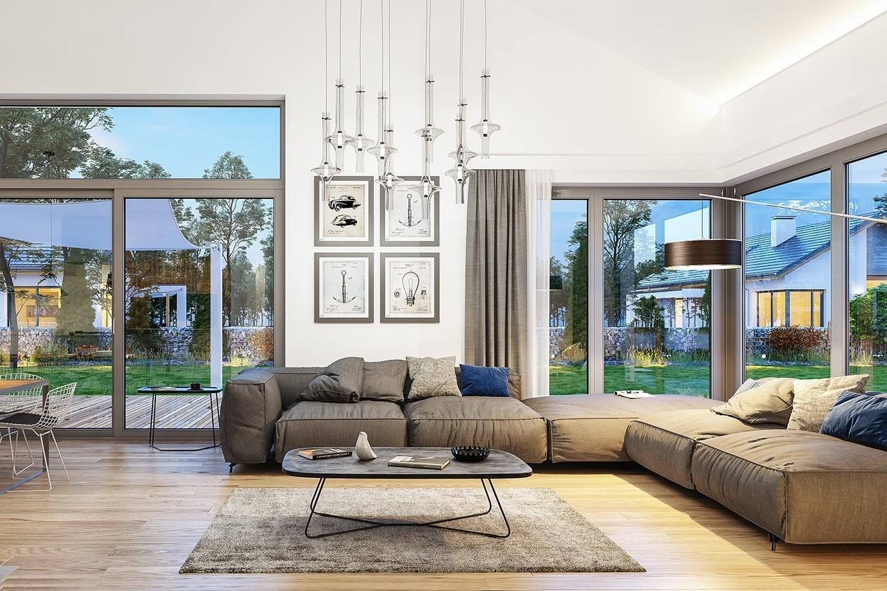 Wymarzony - wnętrze domu odbicie lustrzane