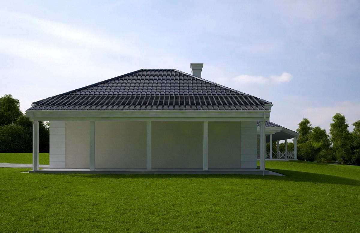 Animacja - Projekt domu - Rezydencja parkowa 4