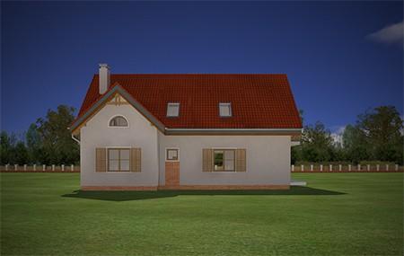 Animacja - Projekt domu Pod dębami