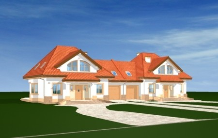 Animacja - Projekt domu Dom na medal - bliźniak