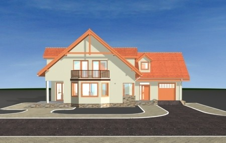 Animacja - projekt domu Przestronny