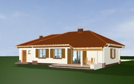 Animacja - projekt domu Cztery kąty 2