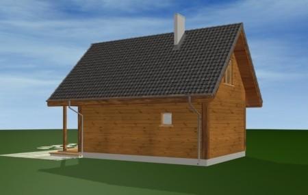 Animacja - projekt domu Sosenka drewniana