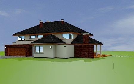 Animacja - projekt domu Willa z basenem