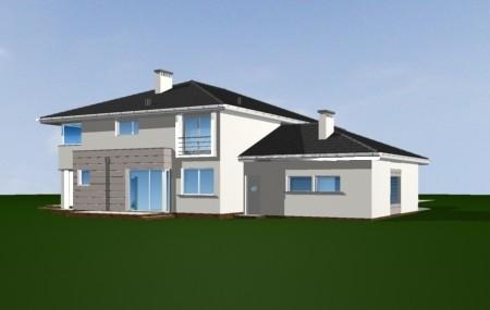 Animacja - projekt domu Prestiżowy