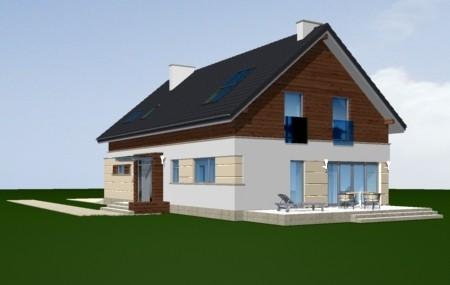 Animacja - projekt domu Nowoczesny