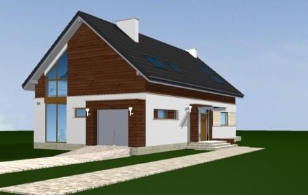 Animacja - projekt domu Nowoczesny 2