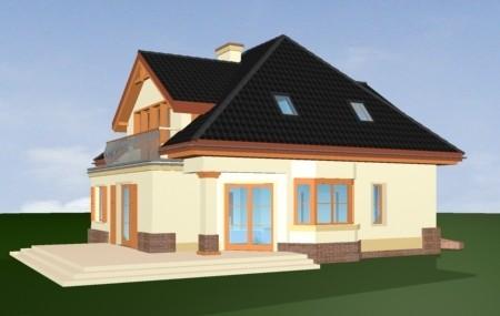 Animacja - Projekt domu Dom na medal 2