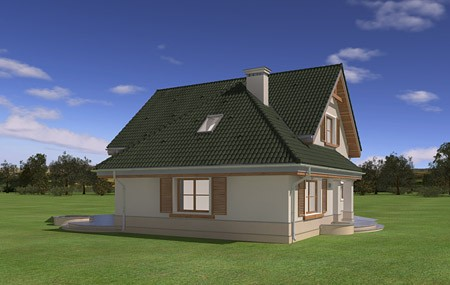 Animacja- projekt domu Dom w brzozach