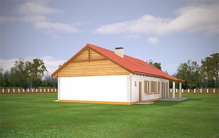 Animacja - Projekt domu Bursztyn 2