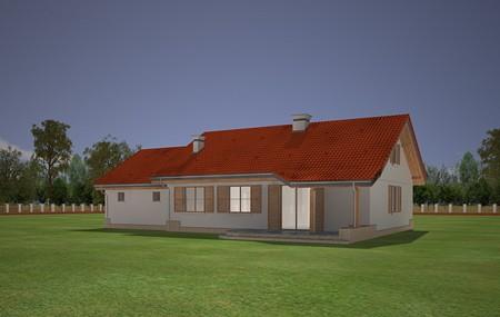 Animacja - Projekt domu Niezapominajka z garażem 2