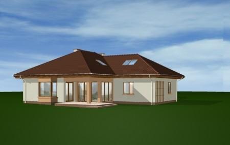 Animacja - projekt domu Trzypokoleniowy