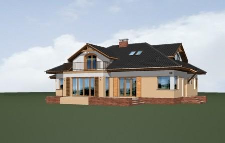 Animacja - projekt domu Familijny