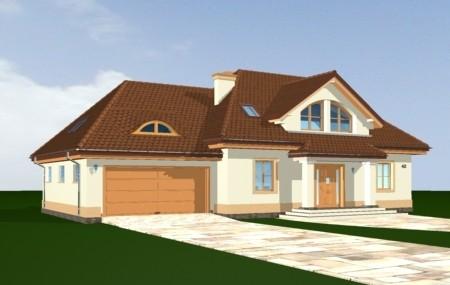 Animacja - projekt domu Faworyt 2