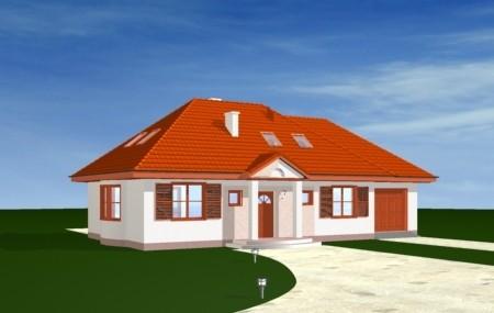 Animacja - projekt domu Gargamel z garażem