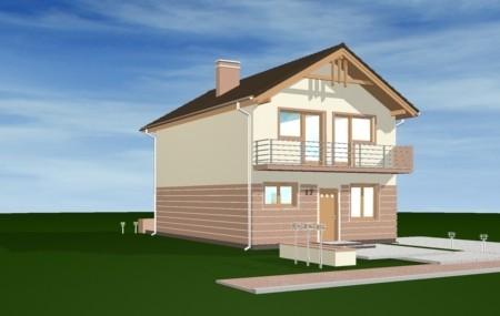 Animacja - projekt domu Dom z piętrem