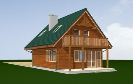 Animacja - Projekt domu D03 Grześ drewniany