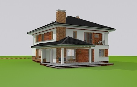 Animacja - projekt domu Willa na borowej