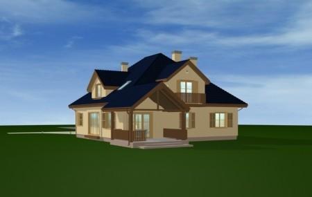 Animacja - projekt domu Hornówek