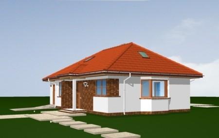Animacja - projekt domu Klejnot z garażem