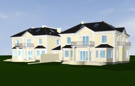 Animacja - projekt domu Komorów
