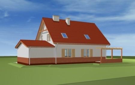 Animacja - projekt domu Leśny zakątek