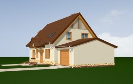 Animacja - projekt domu Leśny zakątek 2