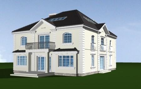 Animacja - projekt domu Elegancki