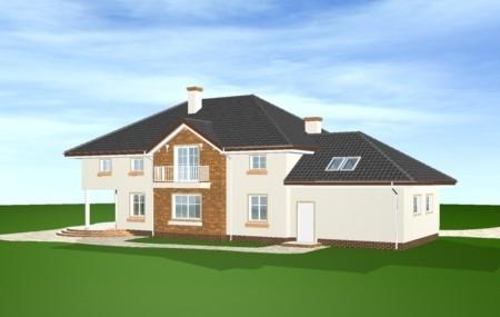 Animacja - projekt domu Okazały