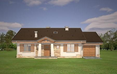 Animacja - projekt domu Niezapominajka z garażem