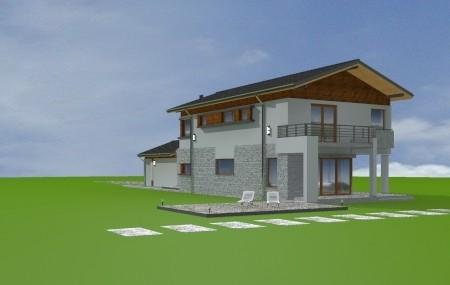 Animacja - projekt domu Lugano