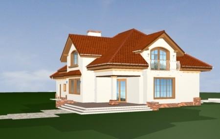 Animacja - Projekt domu Pod dębem