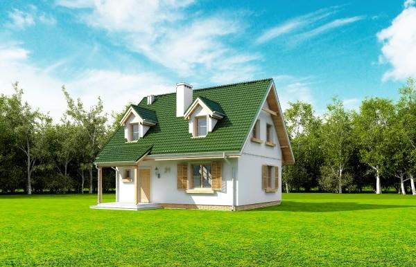 Projekt domu Poziomka - obrót 2