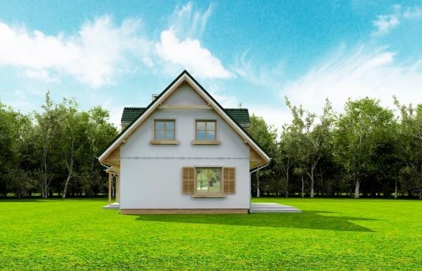 Projekt domu Poziomka - obrót 4