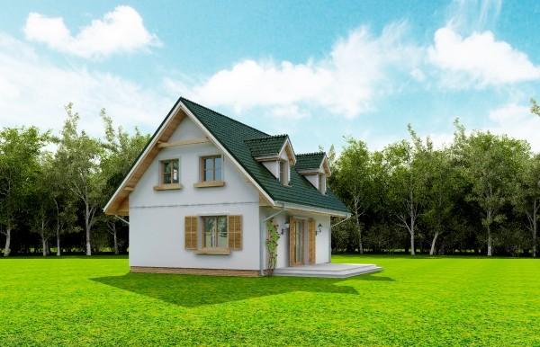 Projekt domu Poziomka - obrót 5
