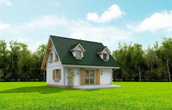 Projekt domu Poziomka - obrót 6